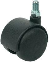 Мебельный ролик, D 50 мм, резьбовой штифт, резьба М 10 х 20 мм, черный