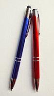 Ручка шариковая подарочная пластиковый красный и синий с серебром корпус №0911 Китай