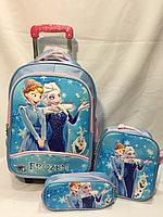 Школьный рюкзак на колесах для девочек с 1-го по 3-й класс.Пенал,сумка для обуви., фото 1