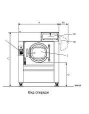Промышленная стиральная машина Electrolux W4850H 90 кг, фото 2