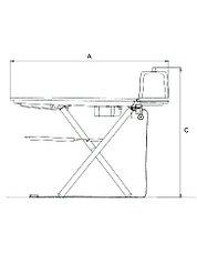 Профессиональный гладильный стол Electrolux FIT1, фото 2