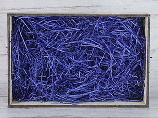 Бумажный наполнитель для оформления подарков. Цвет - Синий 100 гр.