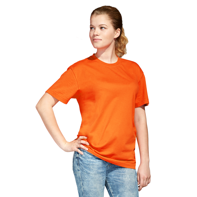 Промо футболка унисекс, StanAction, 51, Оранжевый (28), XL/52