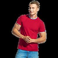 Мужская футболка «триколор», EkaterinaCity, 1402, Красный (14), XS/44