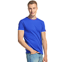 Мужская футболка «триколор», EkaterinaCity, 1402, Синий (16), M/48
