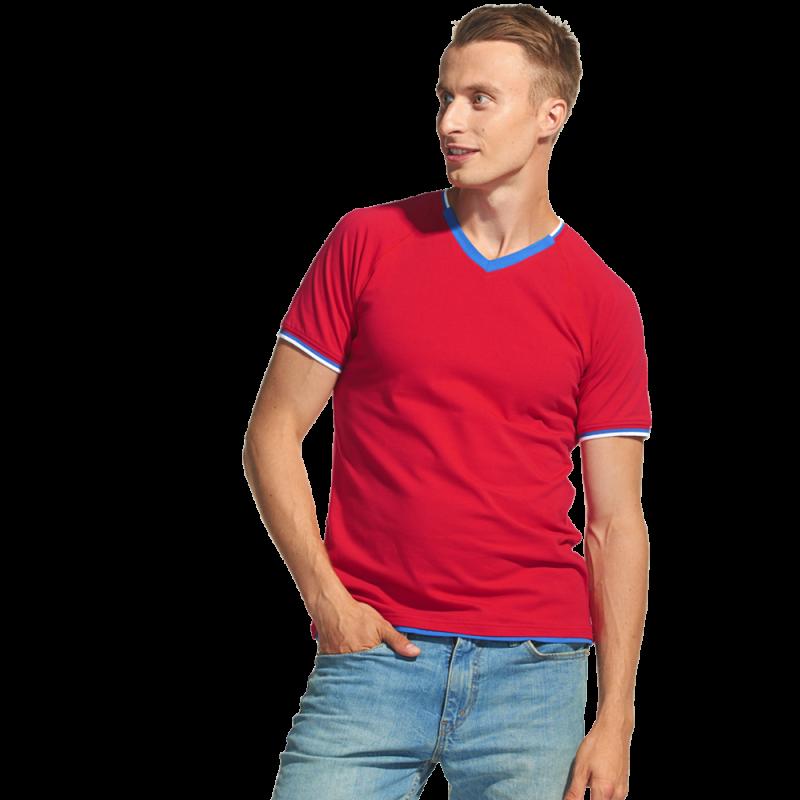 Спортивная футболка «триколор», MoscowStyle, 14021, Красный (14), XS/44