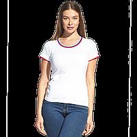 Женская футболка «триколор», EkaterinaCityWomen, 14W02, Белый (10), XXL/52