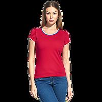 Женская футболка «триколор», EkaterinaCityWomen, 14W02, Красный (14), XS/42