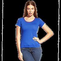 Женская футболка «триколор», EkaterinaCityWomen, 14W02, Синий (16), M/46