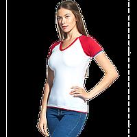 Спортивная футболка «триколор», MoscowStyleWomen, 14W021, Белый (10), L/48