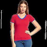 Спортивная футболка «триколор», MoscowStyleWomen, 14W021, Красный (14), XL/50