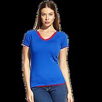 Спортивная футболка «триколор», MoscowStyleWomen, 14W021, Синий (16), S/44