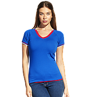 Спортивная футболка «триколор», MoscowStyleWomen, 14W021, Синий (16), XXS/40