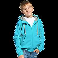 Детская толстовка, StanStyleJunior, 17J, Бирюзовый-Серый меланж (32/50), 6 лет