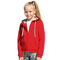 Детская толстовка, StanStyleJunior, 17J, Красный-Серый меланж (14/50), 6 лет