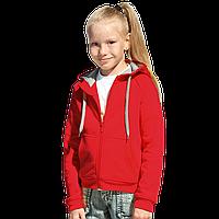 Детская толстовка, StanStyleJunior, 17J, Красный-Серый меланж (14/50), 12 лет