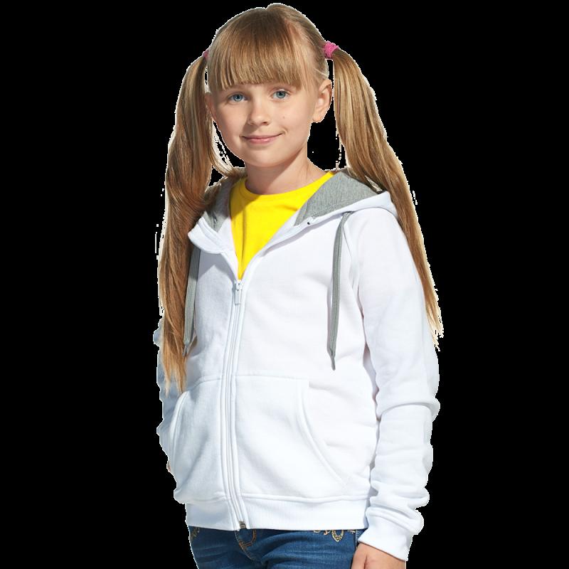 Детская толстовка, StanStyleJunior, 17J, Белый-Серый меланж (10/50), 12 лет