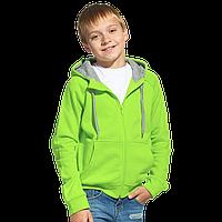 Детская толстовка, StanStyleJunior, 17J, Ярко-зелёный-Серый меланж (26/50), 12 лет