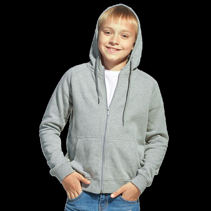 Детская толстовка, StanStyleJunior, 17J, Серый меланж-Темный меланж (50/60), 12 лет