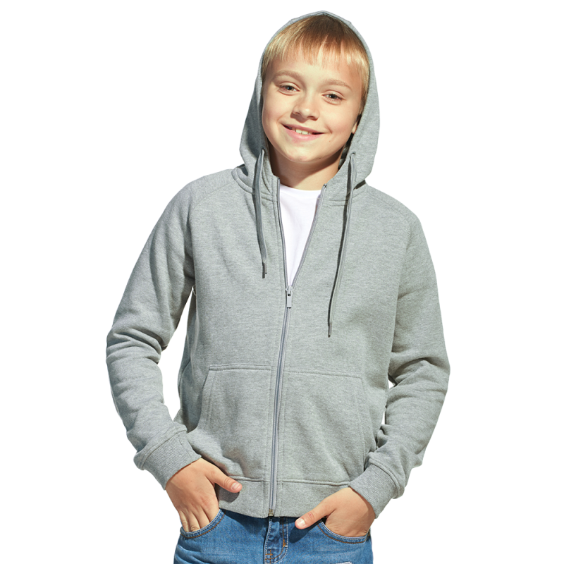 Детская толстовка, StanStyleJunior, 17J, Серый меланж-Темный меланж (50/60), 6 лет