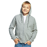 Детская толстовка, StanStyleJunior, 17J, Серый меланж-Темный меланж (50/60), 8 лет