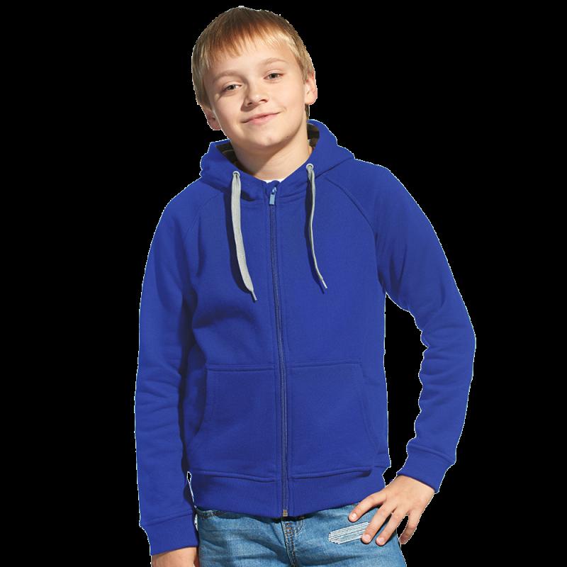 Детская толстовка, StanStyleJunior, 17J, Синий-Серый меланж (16/50), 8 лет