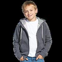 Детская толстовка, StanStyleJunior, 17J, Тёмный меланж-Серый меланж (60/50), 10 лет
