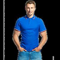 Мужская рубашка поло «триколор», StanRussian, 04RUS, Синий (16), L/50