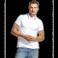 Мужская рубашка поло «триколор», StanRussian, 04RUS, Белый (10), 3XS/40