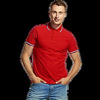 Мужская рубашка поло «триколор», StanRussian, 04RUS, Красный (14), L/50