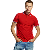 Мужская рубашка поло «триколор», StanRussian, 04RUS, Красный (14), XXL/54
