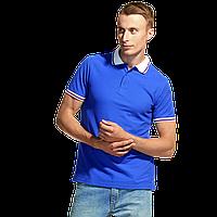 Мужская рубашка поло «триколор», StanRussian, 04RUS, Синий-Белый (16/10), M/48