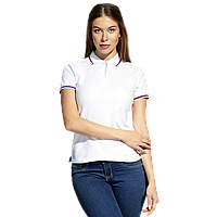 Женская рубашка поло  «триколор», StanRussianWomen, 04WRUS, Белый (10), S/44