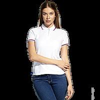 Женская рубашка поло  «триколор», StanRussianWomen, 04WRUS, Белый (10), XL/50