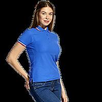 Женская рубашка поло  «триколор», StanRussianWomen, 04WRUS, Синий (16), XXL/52