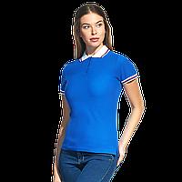 Женская рубашка поло  «триколор», StanRussianWomen, 04WRUS, Синий-Белый (16/10), XXL/52