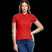 Женская рубашка поло  «триколор», StanRussianWomen, 04WRUS, Красный (14), M/46