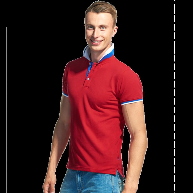 Мужская  рубашка поло «триколор», PiterBest, 1504, Красный (14), S/46