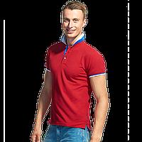 Мужская  рубашка поло «триколор», PiterBest, 1504, Красный (14), S/46, фото 1