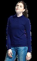 Рубашка поло сдлинным рукавом, StanPoloWomen, 04SW, Тёмно-синий (46), M/46