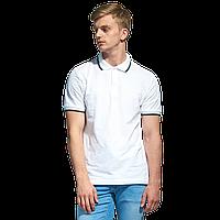 Мужская рубашка поло с отделкой, StanTrophy, 04T, Белый (10), 4XL/58