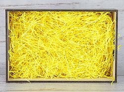 Бумажный наполнитель для оформления подарков. Цвет - Лемон100 гр.