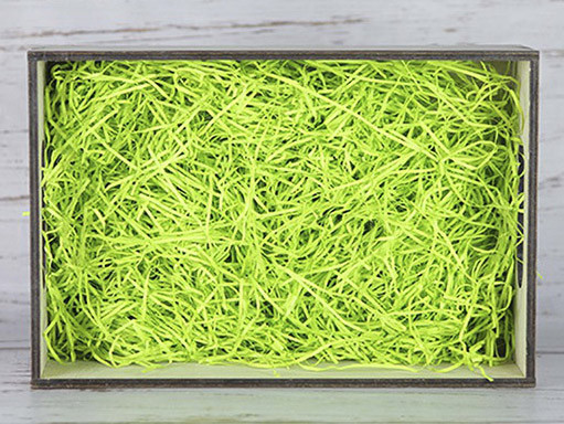 Бумажный наполнитель для оформления подарков. Цвет - Зеленый  (HP) 100 гр.