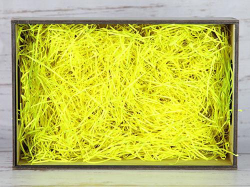 Бумажный наполнитель для оформления подарков. Цвет - Желтый (HP) 30 гр.