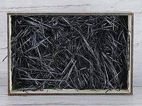 Бумажный наполнитель для оформления подарков. Цвет - Черный 30 гр.