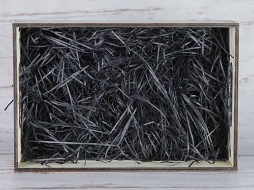 Бумажный наполнитель для оформления подарков. Цвет - Черный 100 гр.