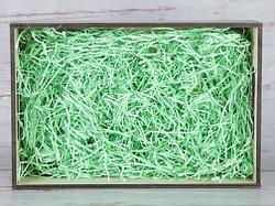 Бумажный наполнитель для оформления подарков. Цвет - Зеленый 100 гр.