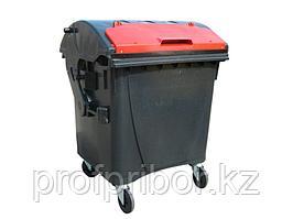Евроконтейнер для раздельного сбора мусора пластиковый 1100 литров (с круглой крышкой)