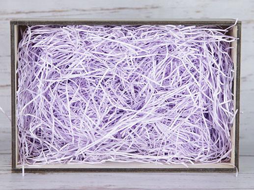 Бумажный наполнитель для оформления подарков. Цвет - Лаванда 30 гр.