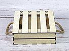 Деревянный ящик с откидной крышкой без покраски 25*25*8 см., фото 3